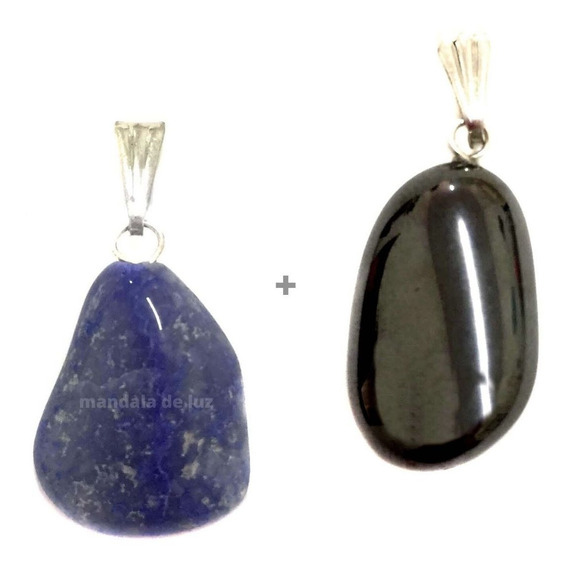 Pingente Prateado De Hematita Pedra Cristal Natural Energia