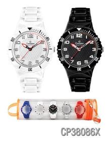 Kit Relógio Champion Troca Pulseira Unissex Cp38086x