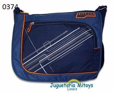 Morral Azul Con Detalles En Color Y Rayas Mango Mexma 0374