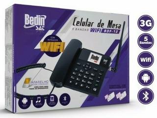 Celular De Mesa Rural Com Roteador Wi-fi 3 G Bedim 5 Bandas