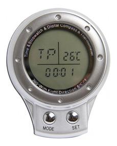 Bússola Digital 4 Em 1: Relógio, Cronômetro E Termômetro
