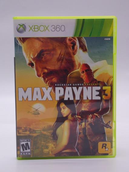 Max Payne 3 Xbox 360 Original Mídia Física