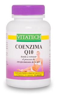 Coenzima Q10 Vita Tech 30 Caps, Vitalidad Para El Organismo