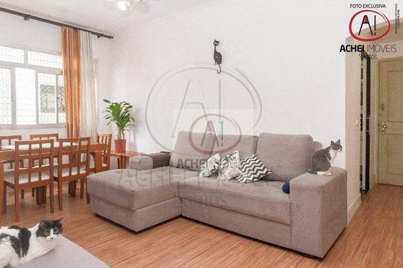 Apartamento Com 2 Dormitórios À Venda, 68 M² Por R$ 320.000,00 - Marapé - Santos/sp - Ap9346