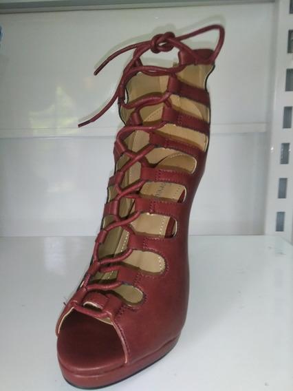 Zapatos De Fiesta Marrón Con Cordón!!! Envío Gratis!!