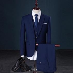 Terno Masculino Slim Oxford Exclusivo Com Colete