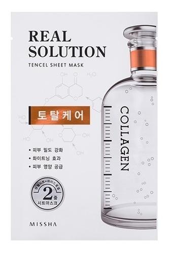 Imagem 1 de 4 de Real Solution Tencel Sheet Mask Total Care - Colágeno