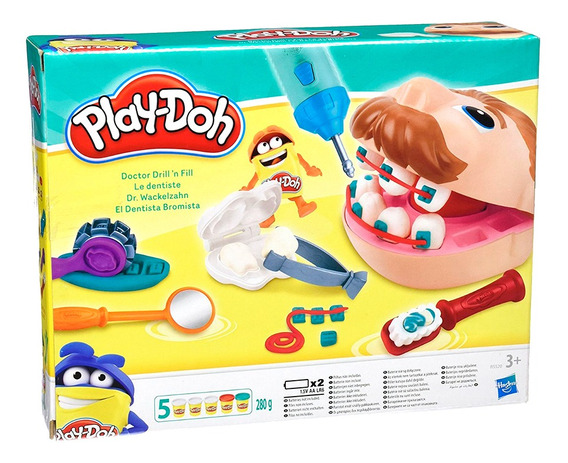 Play Doh Masa El Dentista Bromista Dr Drill Original Hasbro