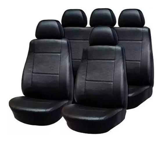 Funda Cubre Asiento Cuerina Cuero Auto P/ Ford Ka Negra