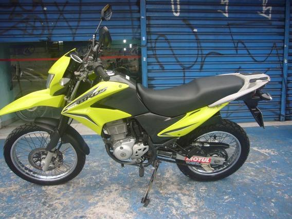 Honda Nxr 150 Bros Es Ano 2013 Verde Troca Financia