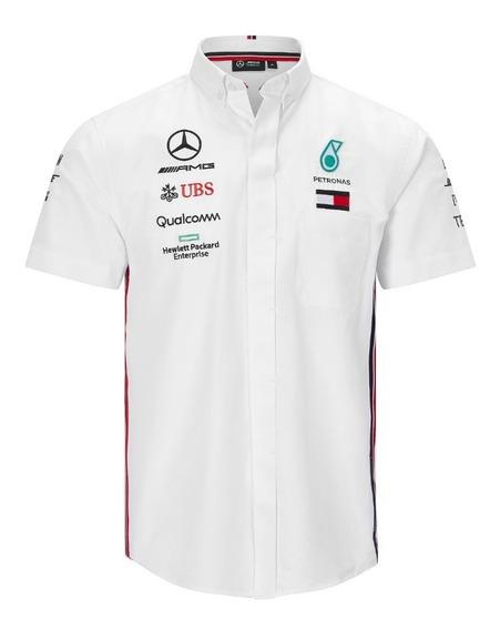 Camisa Vestir Mercedes Petronas Bordada Modelo Nuevo *2019**