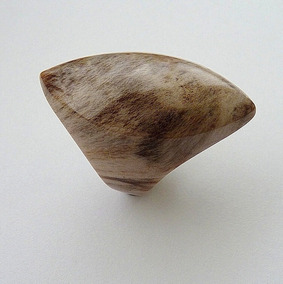 Anel De Madeira Petrificada Aro 17 4996
