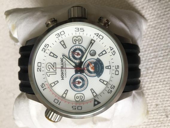 Relógio Mb Fundo Branco Pulseira De Silicone - Enviando