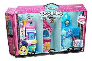 Disney Doorables Set Lujo 3 Escenarios Elsa, Bella, Alicia