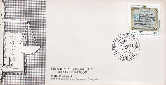 Fdc 1977 - 150 Anos De Criação Cursos Jurídicos-selos #127