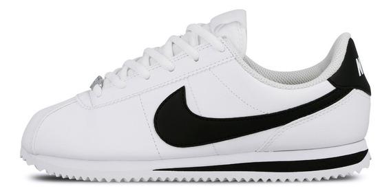 Tenis Dama Nike Cortez Bco Ngo 904764-102