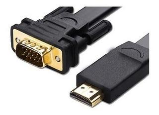 Cable Hdmi M A Vga M 3m Con Chip - Entrada Hdmi Salida Vga