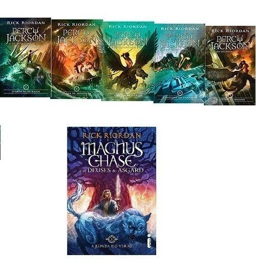 Coleção Percy Jackson + Espada Do Verão (6 Livros)