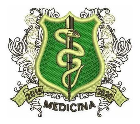 Imagem 1 de 1 de Matriz De Bordado Brasão Medicina
