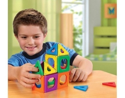 Juguetes Discovery Kids Azulejos Triángulos Magnéticos