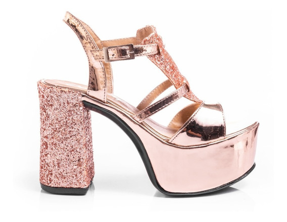 Sandalias Zapatos Mujer Plataformas Fiesta Vestir Glitter