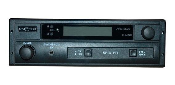 Radio Automotivo Spix Vii Motobras Am Fm Entrada Auxiliar Relogio Digital