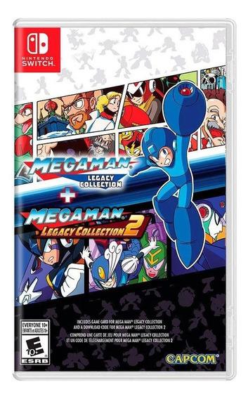 Mega Man Legacy Collection 1 + 2 Switch Midia Física Novo