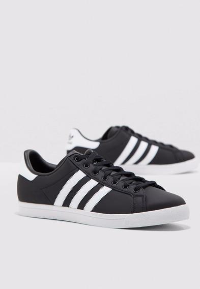 Tênis adidas Originals Coast Star Preto Em Couro Original Nf