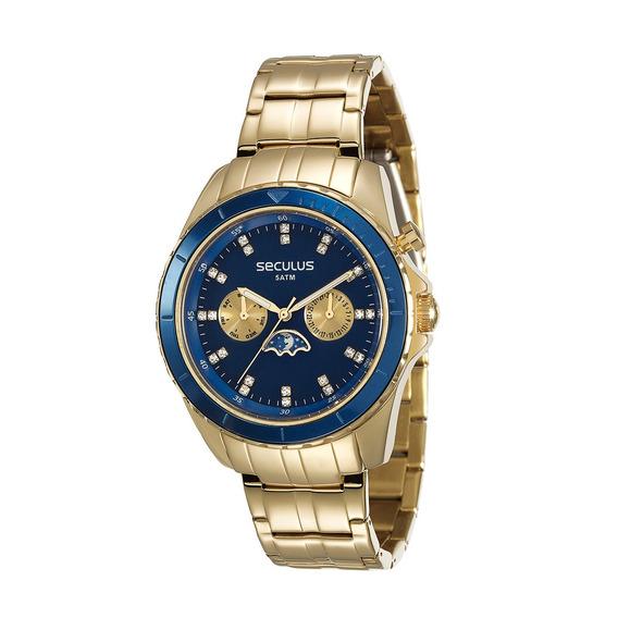 Relógio Feminino Analógico Seculus Dourado 28709lpsvda1