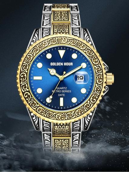Relógio Masculino De Aço Inoxidável De Pulso Indiano Intern.