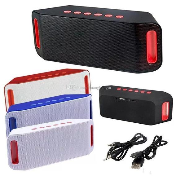 Caixa De Som Portátil S204 Fm Com Bluetooth Mp3 Micro Usb