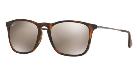 Oculos Sol Ray Ban Chris Rb4187l 865 5a 54mm Tartaruga Fosco
