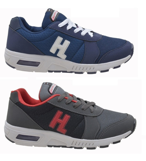 Kit 2 Pares Tênis Masculino Infantil Casual Happy Luck Hl057