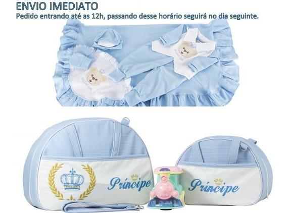 Saída Maternidade C/ Bolsa Maternidade Menino / Menina