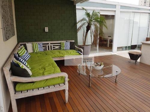 Oportunidade Cobertura Duplex, Piscina, Churrasqueira, Finíssimo Acabamento, Totalmente Mobiliada - Entrar E Morar - Agende Sua Visita!!! - Co0134
