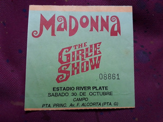 Entrada Recital Madonna 1993 Bs As