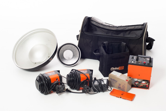 Flash Bateria Mako 3003dc Com 2 Baterias + Brindes