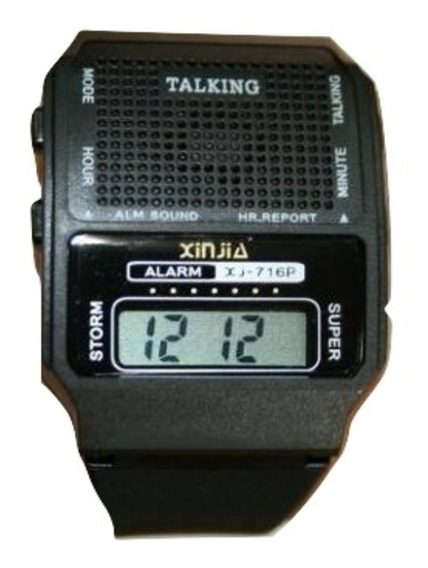 Relógio Fala Hora Alarme Digital Unissex Idoso Barato
