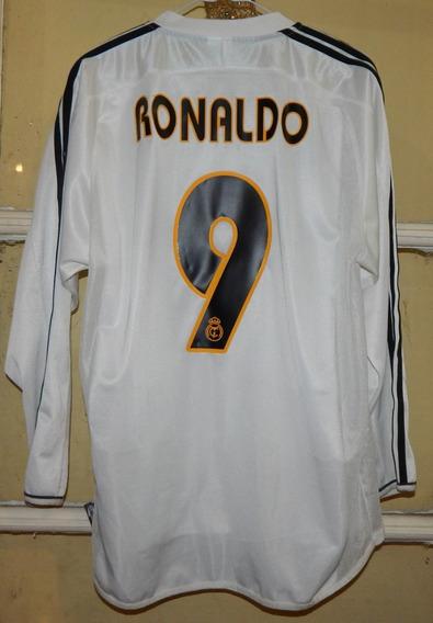 Camiseta Real Madrid 2003 2004 Ronaldo # 9 Seleccion Brasil