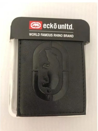 Carteira Ecko Uniltd Mens Leather Black / Pronta Entrega