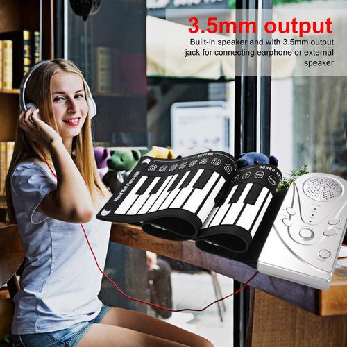 Imagen 1 de 5 de 49 Teclas Flexible Mano Roll-up Piano Teclado Electrónico N