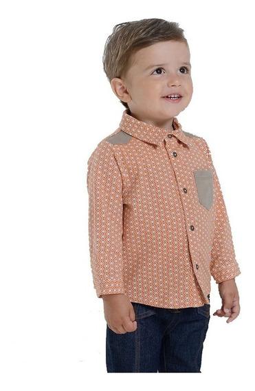 Camisa Orange Dots Bebé Niño 1 A 4 Años Cómoda Y Elegante