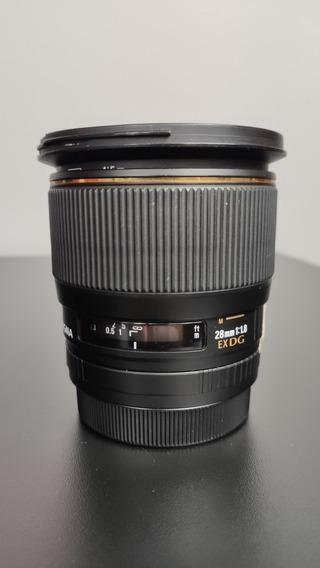 Lente Sigma 28mm F/1.8 Para Canon