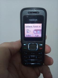 Nokia 1208 Desbloqueado Funcionando + Carregador Original