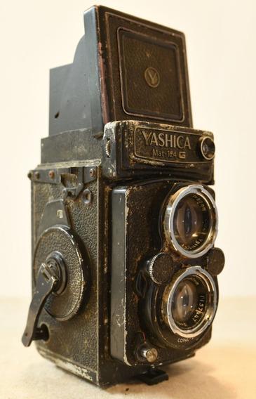 Câmera Tlr Antiga Vintage Yashica Mat 124g