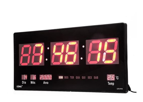 Relógio Parede Digital Painel Led Grande,data,termometro 46c
