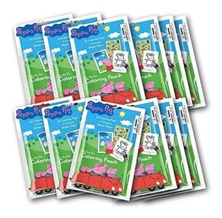12 Set Bolsa De Colorante Peppa Pig Con Lápices De Colores