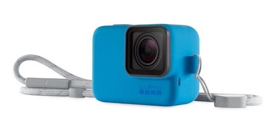 Capa De Silicone Gopro Sleeve Black Azul - Acsst001