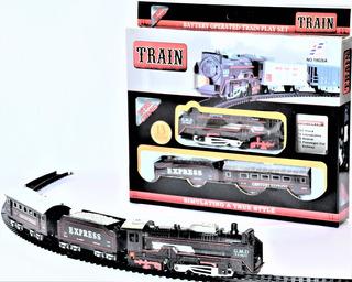 Tren Eléctrico 2 Vagones Luz Pilas Y Envío Gratis