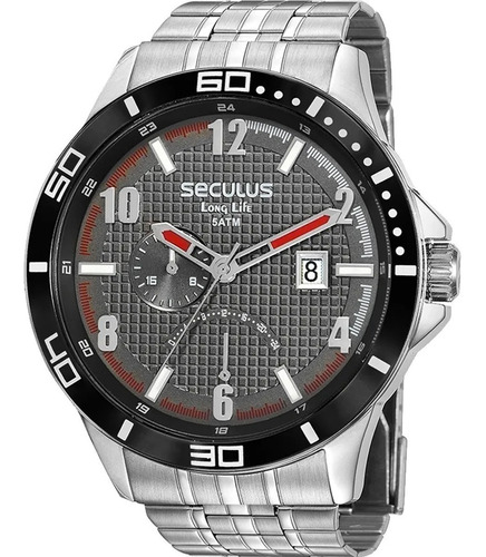 Relógio Masculino Seculus Long Life Prata 35022g0svna1